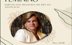 Empoderamento feminino e aniversário da Lei Maria da Penha é tema de live