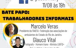 Pai trans, fotógrafo Glauco Vital faz live sobre Trabalhadores informais