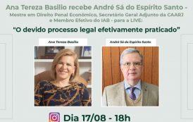 O processo legal é o tema de live com advogados