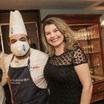 Ricardo Lapeyre e a chef de cozinha Malu Mello