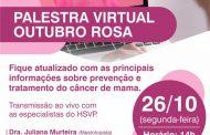 Palestra virtual Outubro Rosa