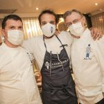 Philippe Lanie, Eli Schram e Head chef Philippe Brye
