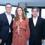 Henrique e Ruth Szapiro com Antonio Mattoni