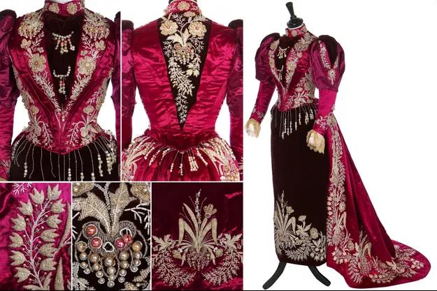 Um vestido raro da princesa Ramisindrazana de Madagascar é leiloado em Londres