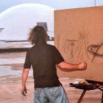 Carlos Bracher pintando Brasília, 2007_Crédito Sérgio Pereira da Silva (9)