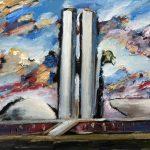 Carlos Bracher_Série Brasília_Congresso Nacional, 120 x 180 cm, 2006_Crédito Acervo Pessoal