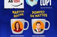 Café com Lupi deste sábado recebe Martha Rocha