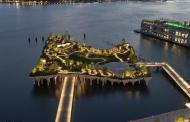 Manhattan  ganha uma ilha flutuante