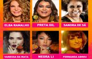 """""""Cultura nas Estações"""" recebe Elba Ramalho, Preta Gil, Sandra de Sá, Vanessa da Mata, Negra Li e Fernanda Abreu"""