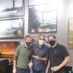 Nando Grabowsky, Ari Kaye e Rodolfo Moraes
