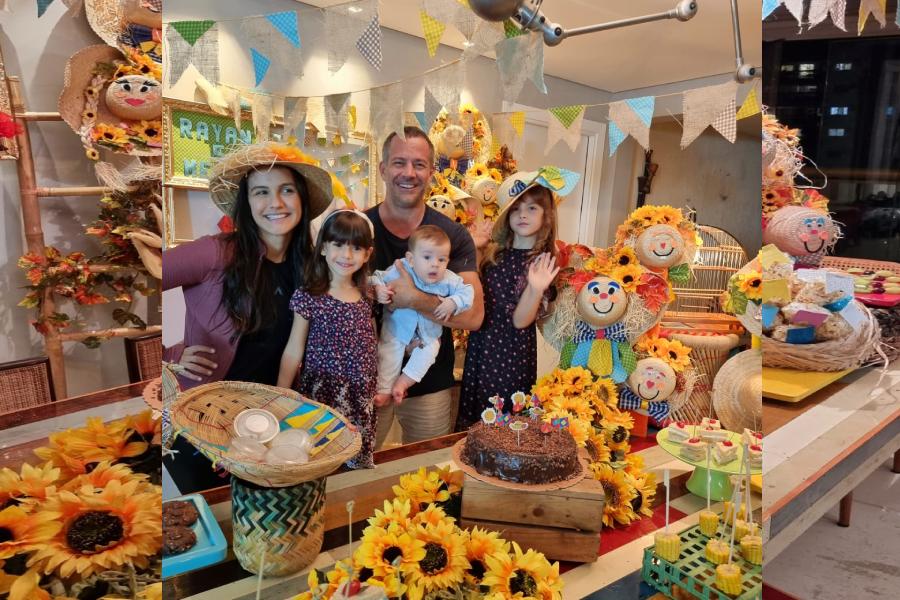Rayan, Filho do casal Malvino Salvador e Kyra Gracie, comemora mêsversário