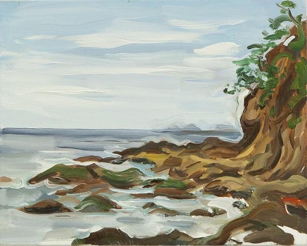 península, óleo sobre linho